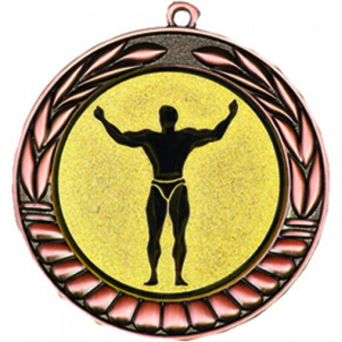 BRONZE 70MM BODYBUILDING MEDAL