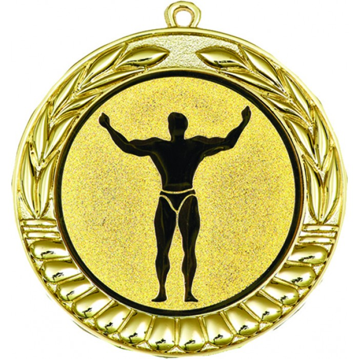 GOLD 70MM BODYBUILDING MEDAL