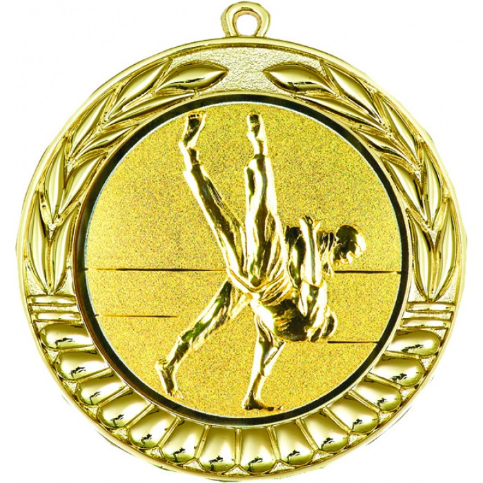 GOLD 70MM JIU JITSU MEDAL