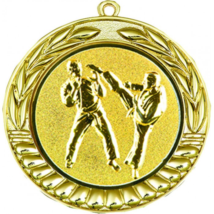 70MM GOLD KARATE MEDAL