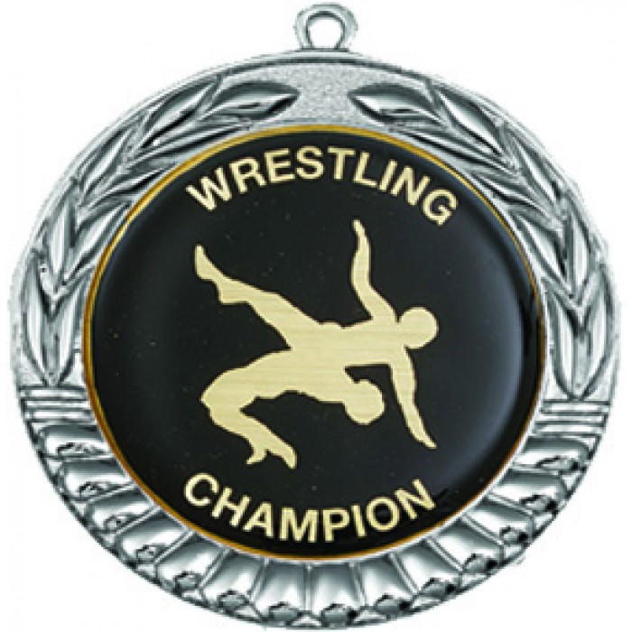 SILVER 70MM WRESTLINGMEDAL