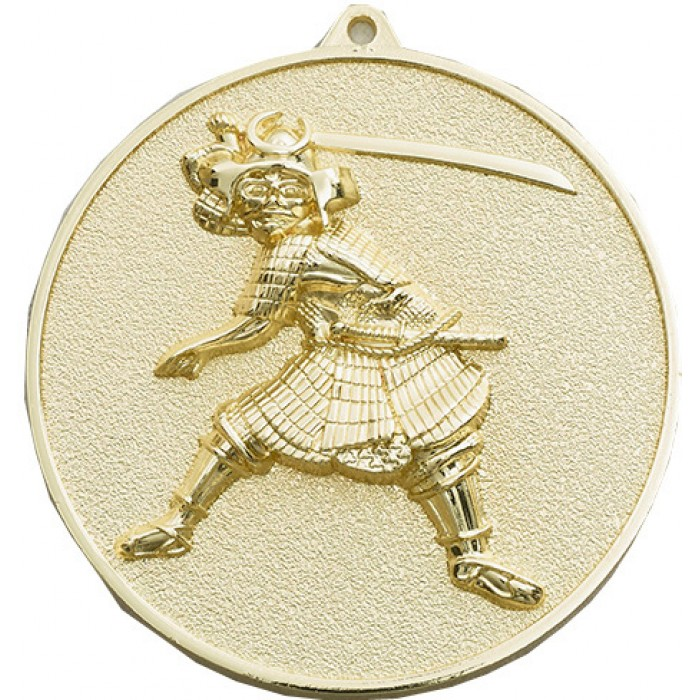 70MM X 6MM THICK GOLD KARATE MEDAL