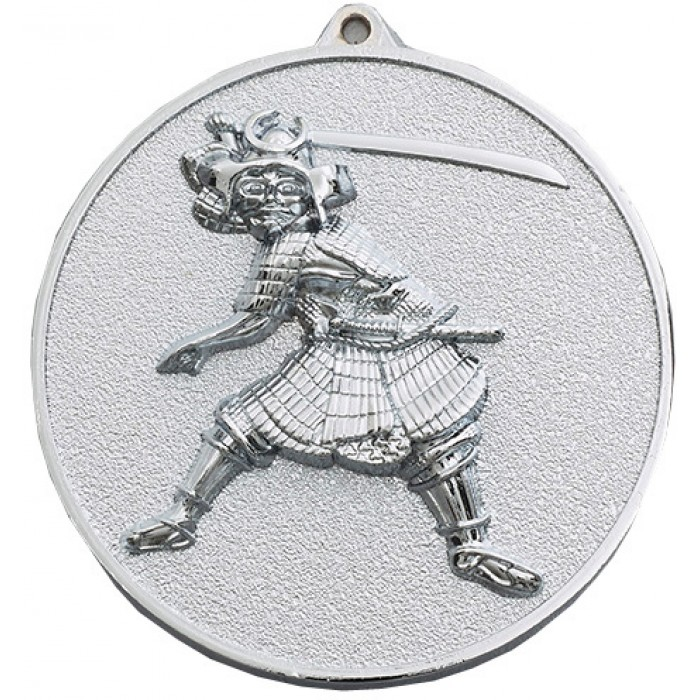 70MM X 6MM THICK SILVER KARATE MEDAL
