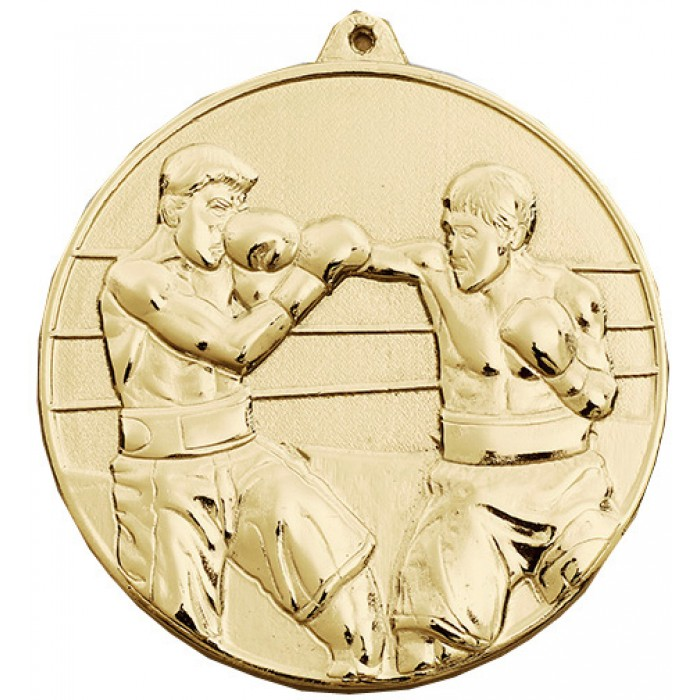 GOLD 70MM BOXING MEDAL