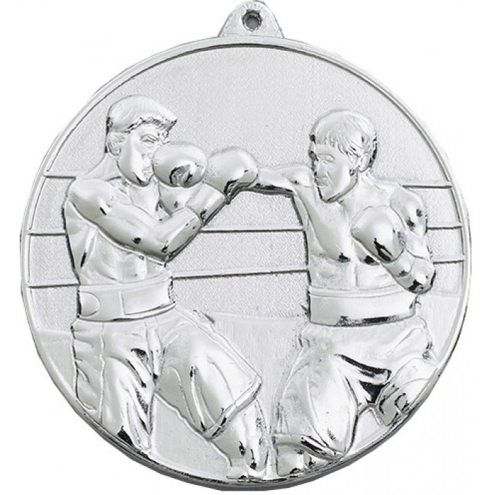 SILVER 70MM BOXING MEDAL