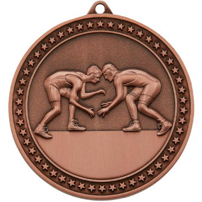 BRONZE WRESTLING MEDAL-70MM X 6MM