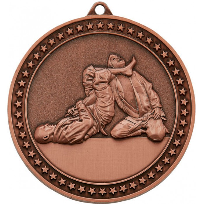 70MM BRONZE JUDO MEDAL
