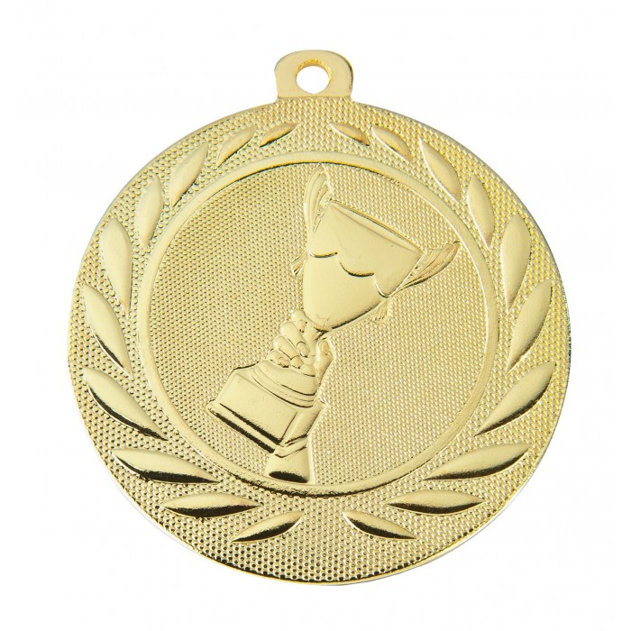 GOLD VICTORY CHAMPION 50MM MEDAL ***SPECIAL OFFER 50% OFF RIBBON PRICE***