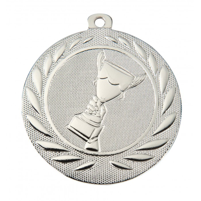 SILVER VICTORY CHAMPION 50MM MEDAL ***SPECIAL OFFER 50% OFF RIBBON PRICE***