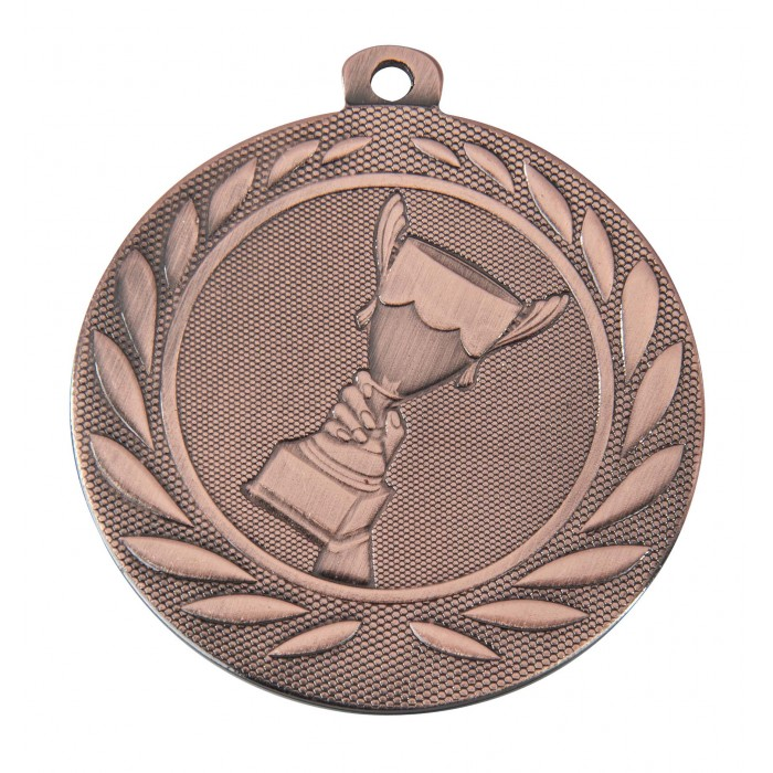 BRONZE VICTORY CHAMPION 50MM MEDAL ***SPECIAL OFFER 50% OFF RIBBON PRICE***