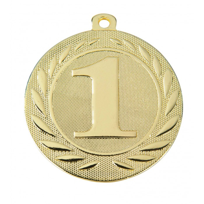 GOLD 1ST PLACE 50MM MEDAL ***SPECIAL OFFER 50% OFF RIBBON PRICE***