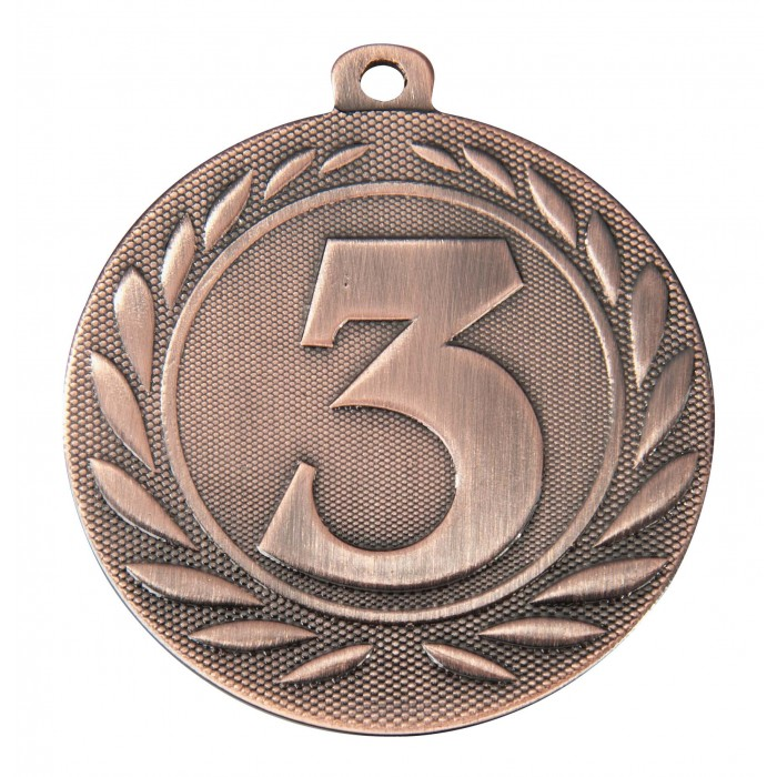 BRONZE 3RD PLACE 50MM MEDAL ***SPECIAL OFFER 50% OFF RIBBON PRICE***