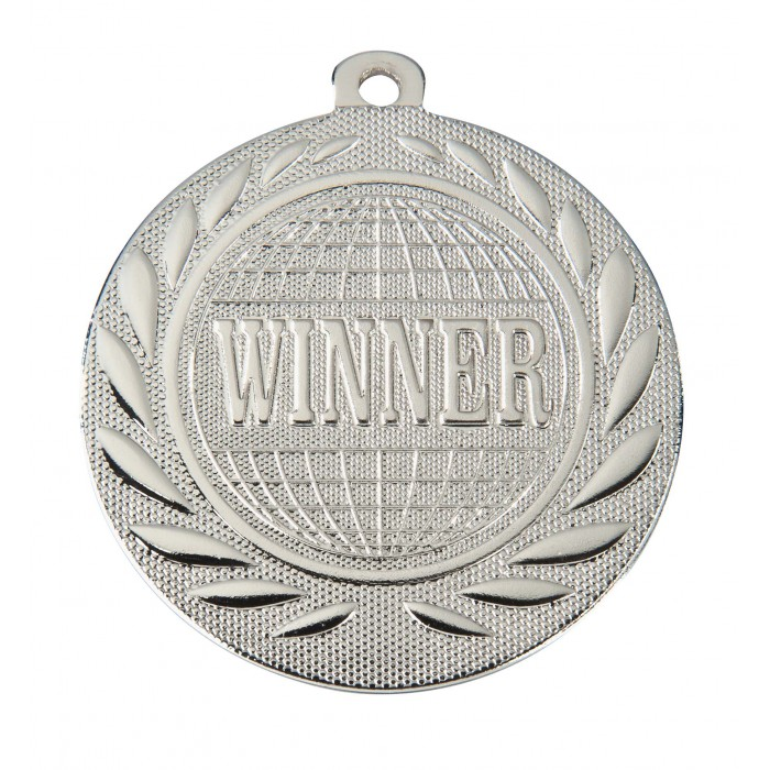 SILVER WINNER 50MM MEDAL ***SPECIAL OFFER 50% OFF RIBBON PRICE***