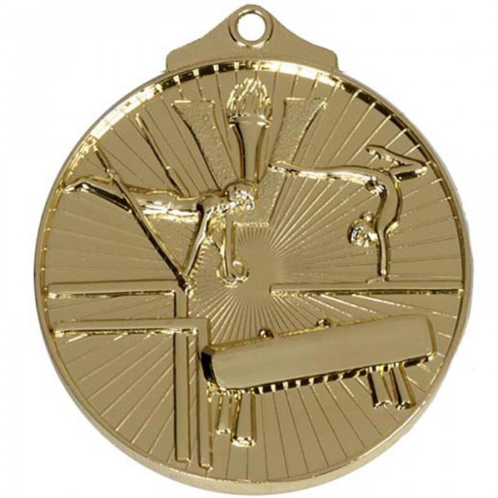 GYMNASTICS MEDAL - 50MM -  3 COLOURS