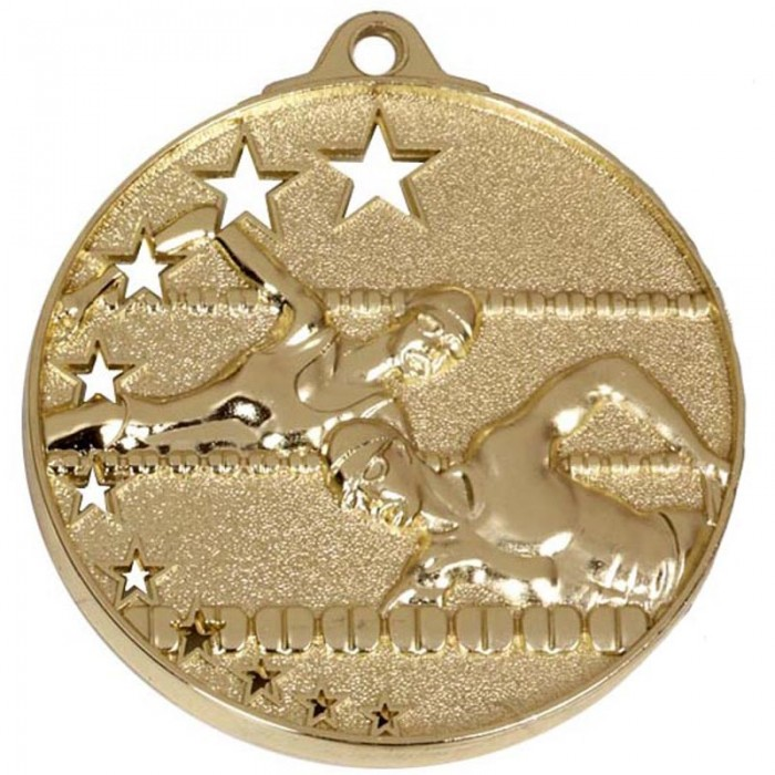 50MM SWIMMING MEDAL - 3 COLOURS