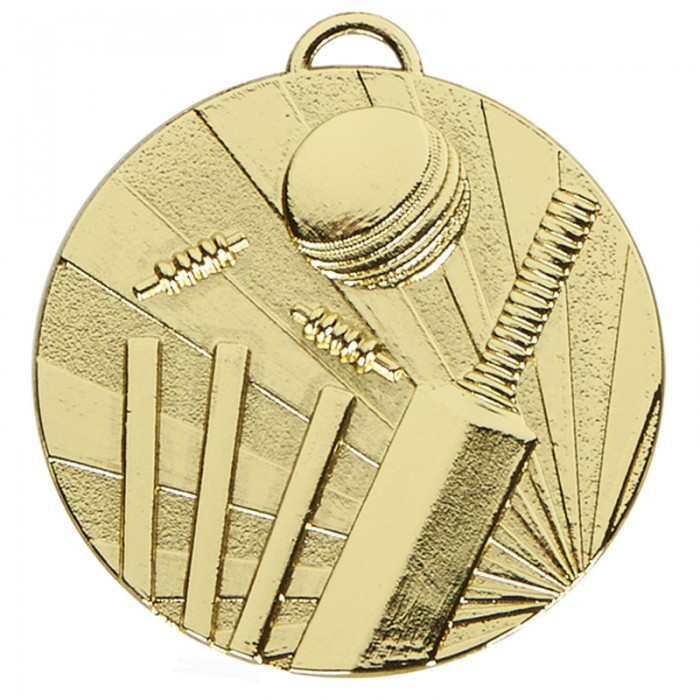 CRICKET MEDAL 50mm - GOLD, SILVER & BRONZE