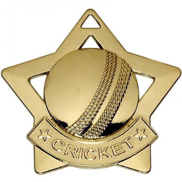 60MM CRICKET MEDAL - Gold, Silver and Bronze