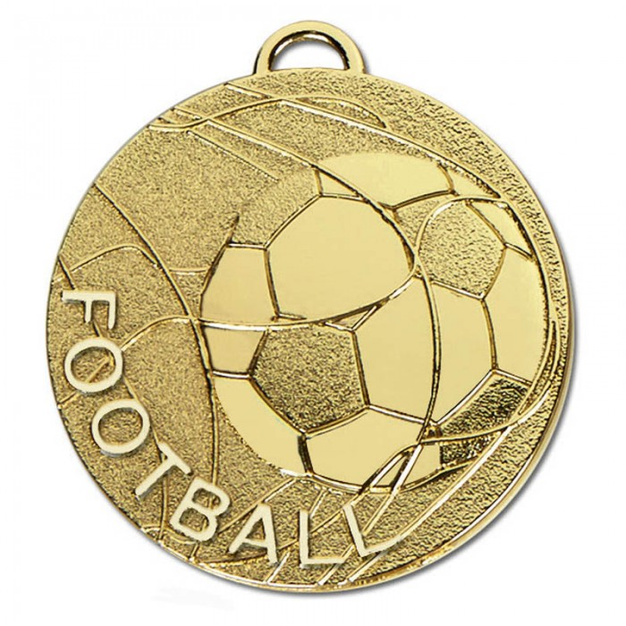 50MM FOOTBALL MEDAL - 2 COLOURS