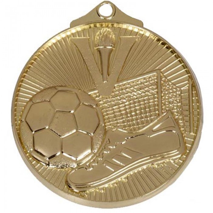 52MM FOOTBALL MEDAL - 3 COLOURS