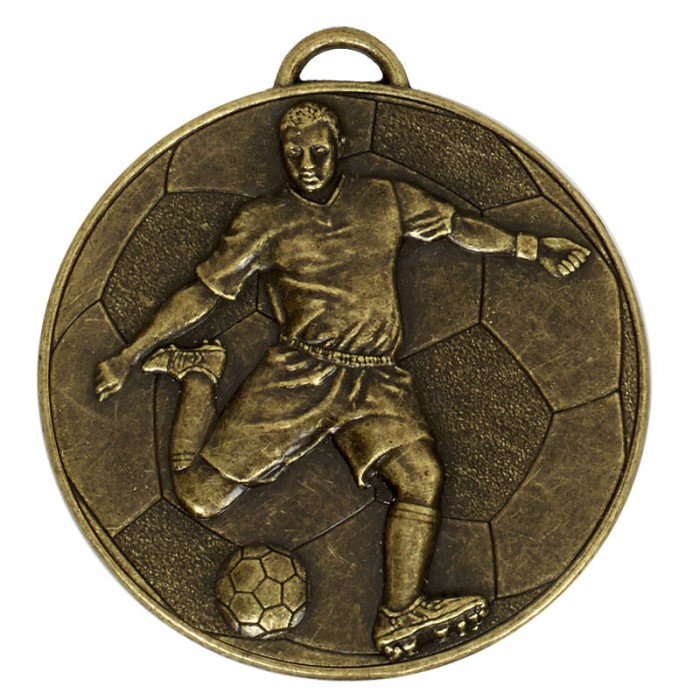 60MM FOOTBALL MEDAL - 3 COLOURS