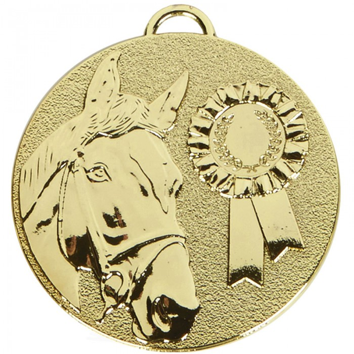 50MM HORSERIDING MEDAL - 3 COLOURS