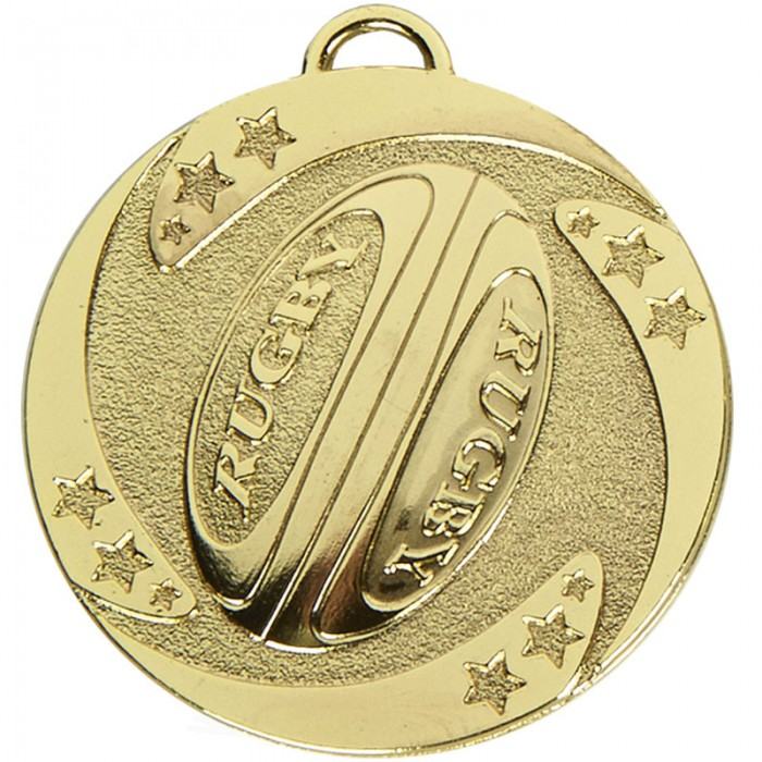 50MM RUGBY MEDAL - 3 COLOURS