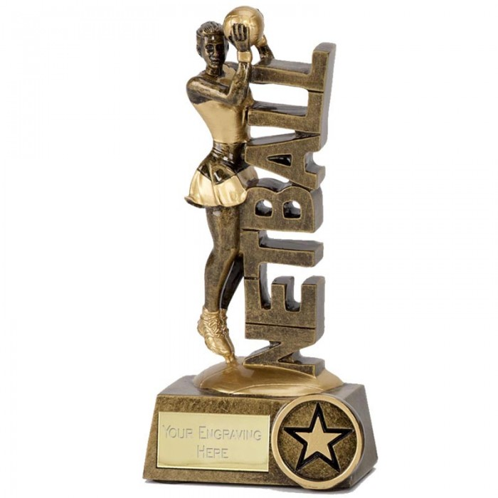 POWER NETBALL RESIN TROPHY - 2 SIZES (5'' & 6'')