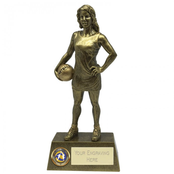 NETBALL RESIN TROPHY - 3 SIZES (6'',7.25'' & 8.75'')