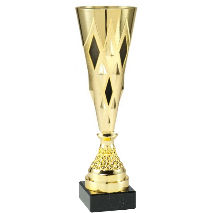 GOLD CONICAL PLASTIC TROPHY CUP - AVAILABLE IN 3 SIZES - 11'' TO 14.5''