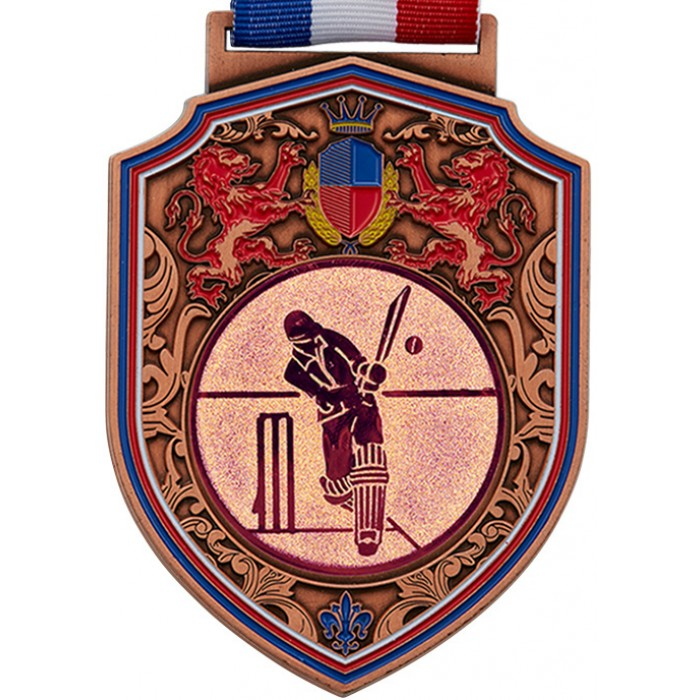 100MM REGAL CRICKET MEDAL - BRONZE