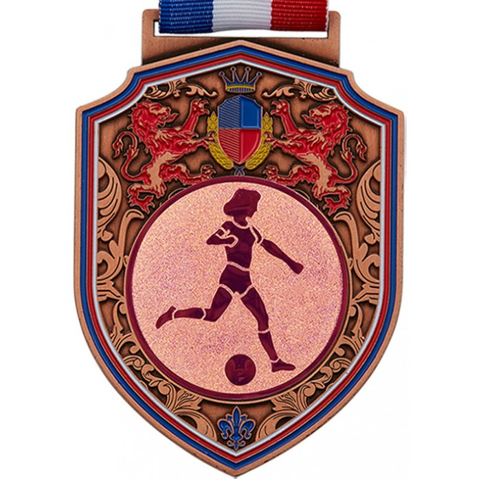 100MM REGAL FEMALE FOOTBALL MEDAL - BRONZE
