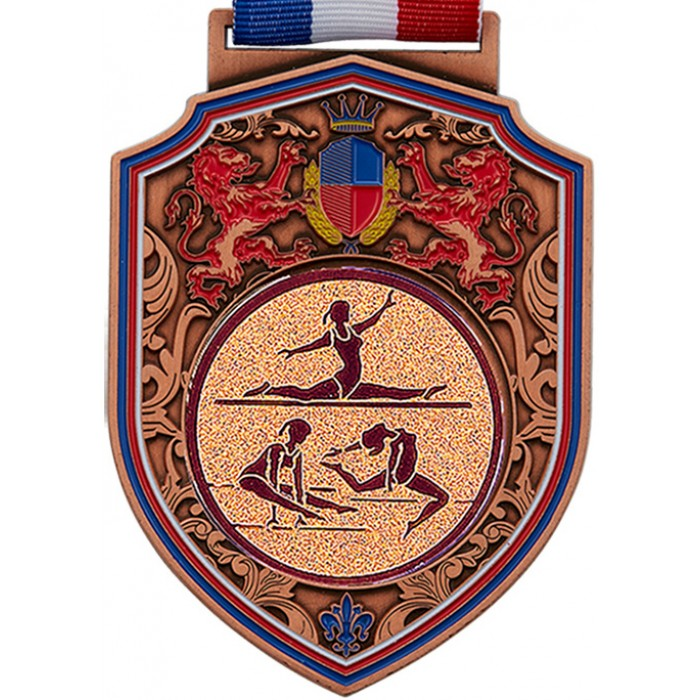 REGAL FEMALE GYMNASTICS MEDAL - 100MM - BRONZE