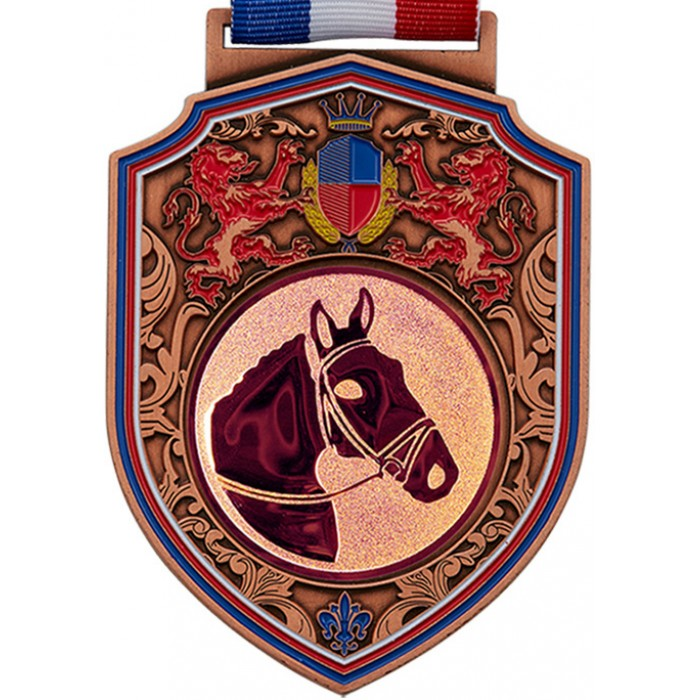 100MM REGAL HORSE RIDING - BRONZE