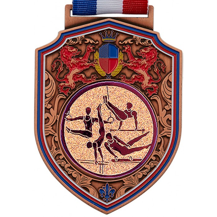REGAL MALE GYMNASTICS MEDAL -100MM -  BRONZE