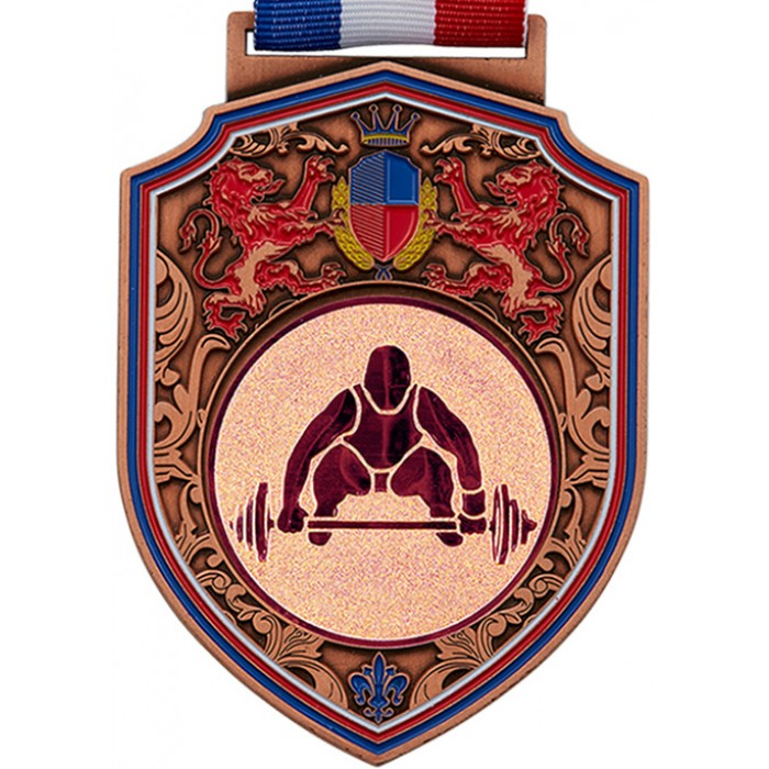 100MM WEIGHTLIFTING MEDAL - REGAL - BRONZE