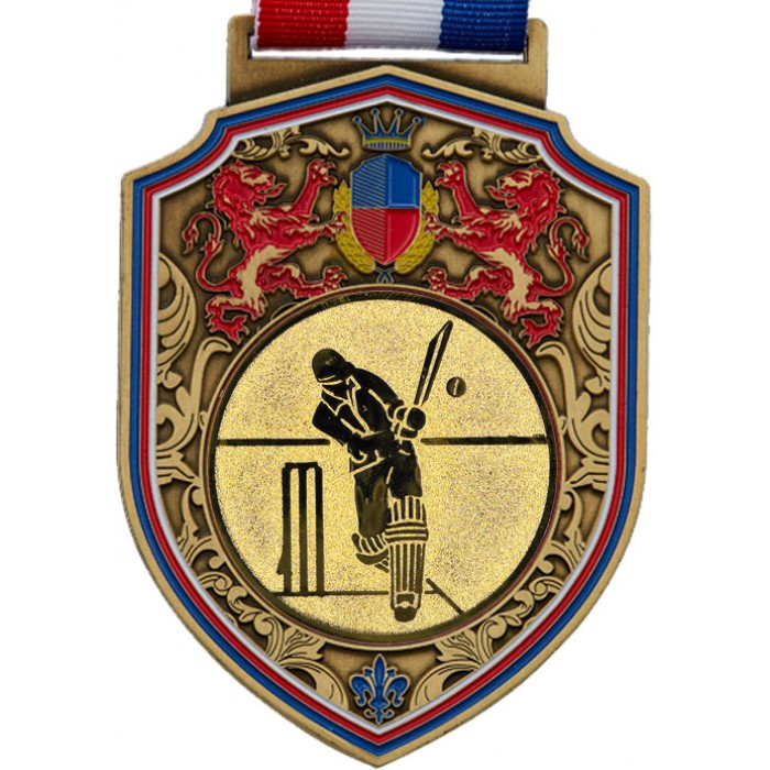 100MM REGAL CRICKET MEDAL - GOLD