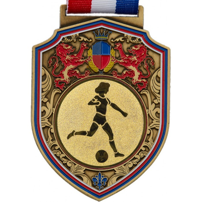 100MM REGAL FEMALE FOOTBALL MEDAL - GOLD