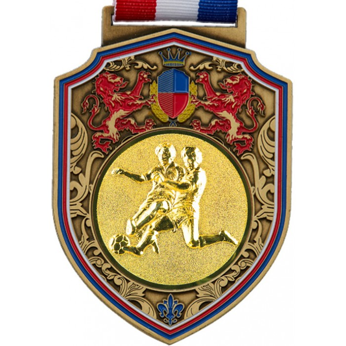 100MM REGAL MALE FOOTBALL MEDAL- GOLD