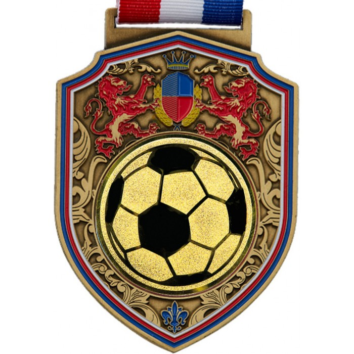 100MM REGAL FOOTBALL MEDAL  - GOLD