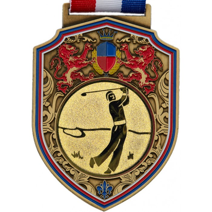 100MM REGAL GOLF MEDAL - GOLD
