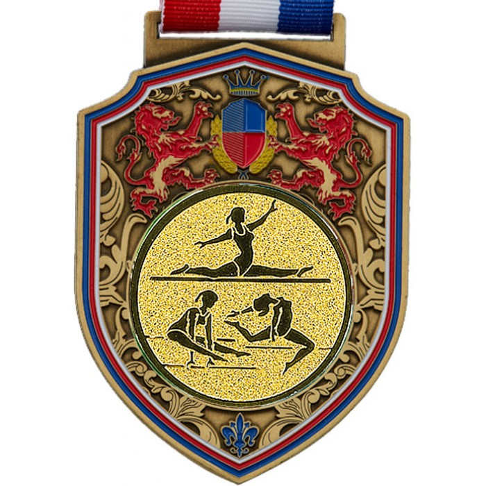 REGAL FEMALE GYMNASTICS MEDAL - 100MM - GOLD
