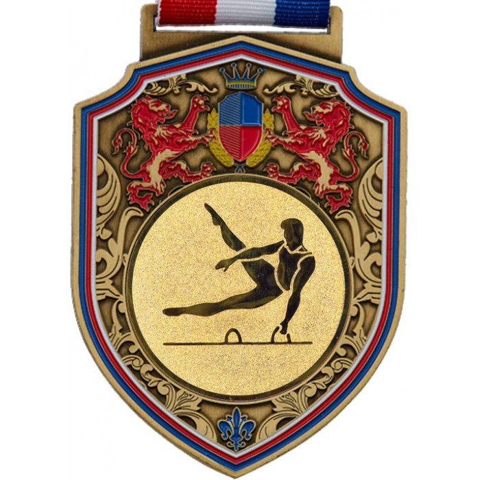 REGAL MALE GYMNASTICS MEDAL - 100MM - GOLD