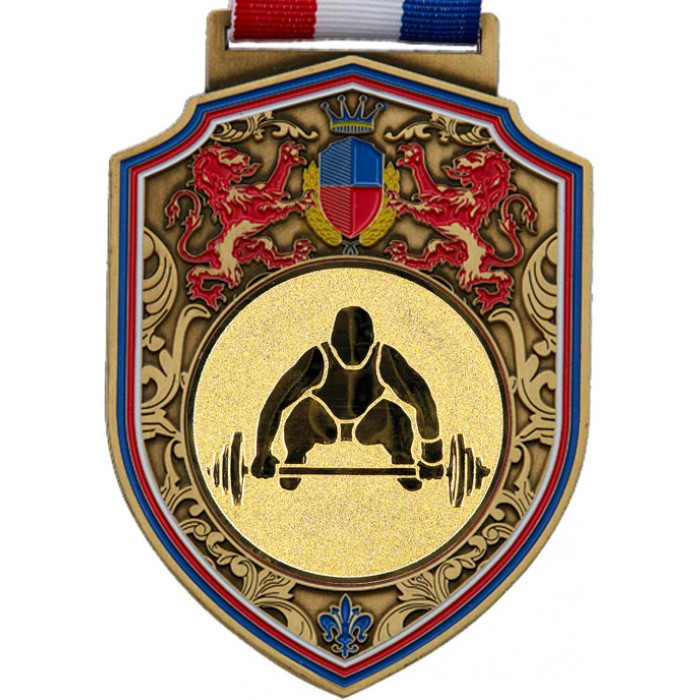 100MM WEIGHTLIFTING MEDAL - REGAL - GOLD