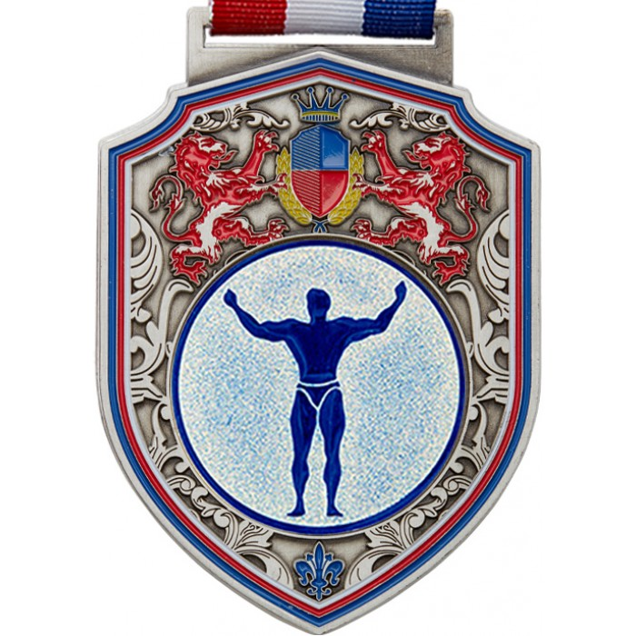 100MM REGAL BODYBUILDING MEDAL - SILVER
