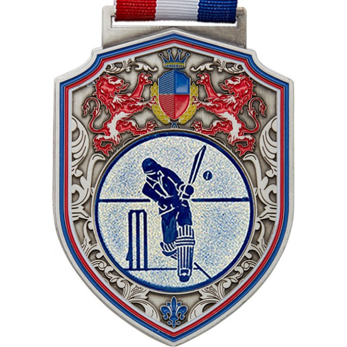 100MM REGAL CRICKET MEDAL - SILVER