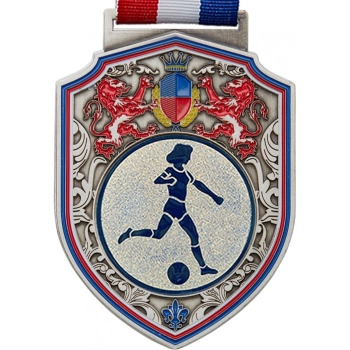 100MM REGAL FEMALE FOOTBALL MEDAL - SILVER