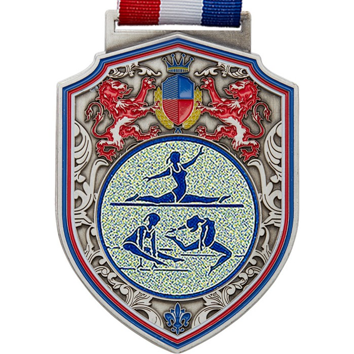 REGAL FEMALE GYMNASTICS MEDAL -100MM -  SILVER