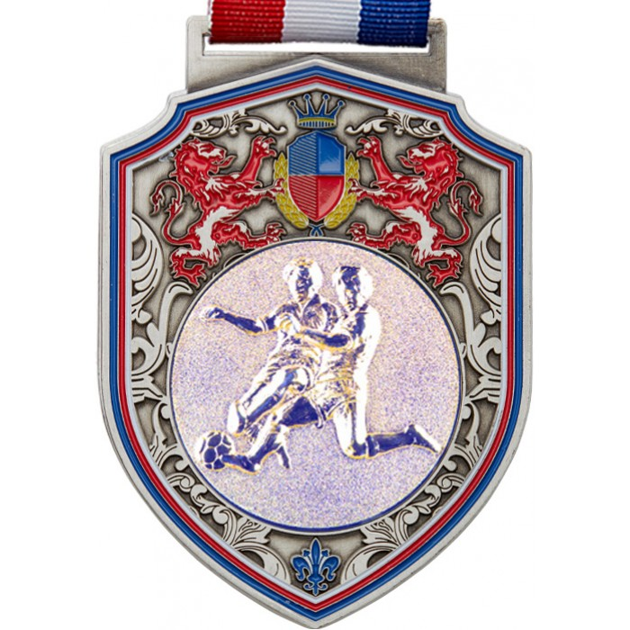 100MM REGAL MALE FOOTBALL MEDAL - SILVER