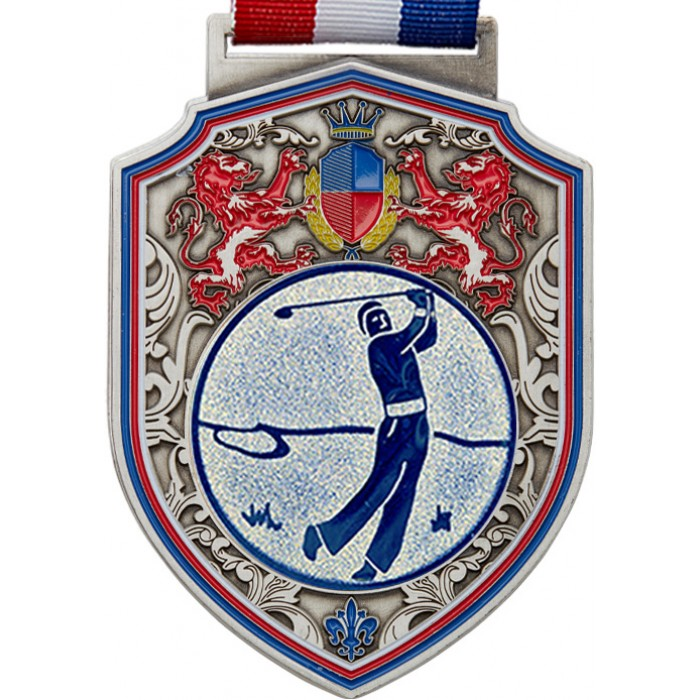 100MM REGAL GOLF MEDAL - SILVER