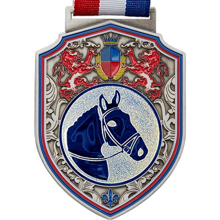 100MM REGAL HORSE RIDING - SILVER
